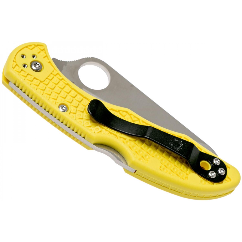 Фото 6 - Складной нож Salt 2 - Spyderco C88PYL2, сталь H1 Satin Plain, рукоять термопластик FRN, жёлтый