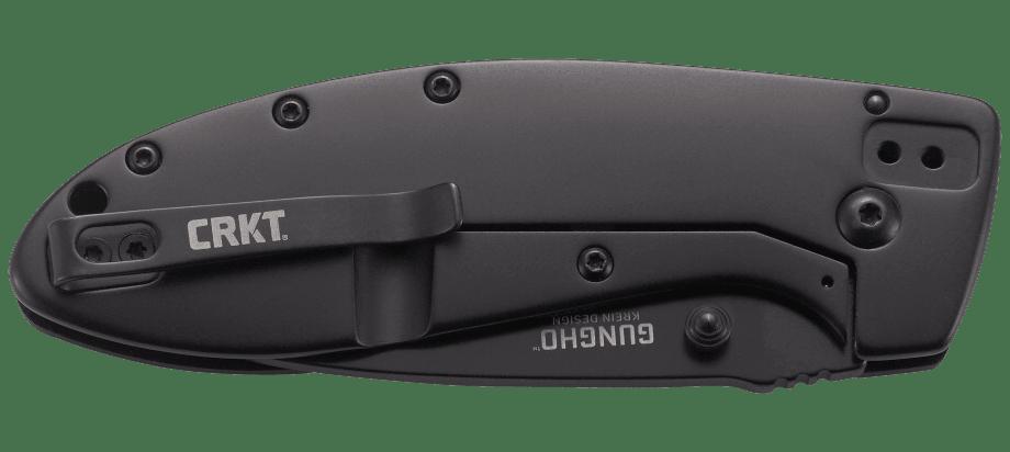 Фото 5 - Полуавтоматический складной нож Gungho, CRKT 7740, сталь 8Cr14MoV Black Oxide Finish, рукоять G10/нержавеющая сталь
