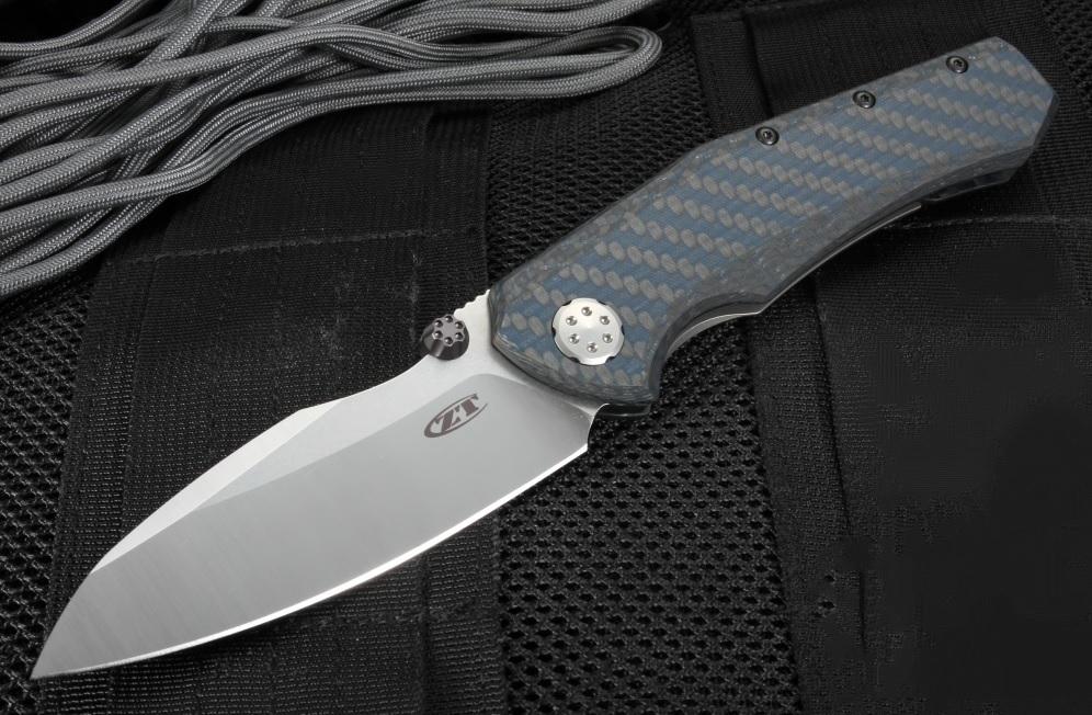 Фото 8 - Складной нож ZT 0850 Rexford / Sinkevich Collaboration, 2-Tone Finish Crucible CPM® 20CV™ сталь, рукоять карбон синий от Zero Tolerance