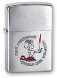 Зажигалка ZIPPO Мальчик, латунь с покрытием Brushed Chrome, серебристый, матовая, 36х12x56 мм - купить в интернет магазине