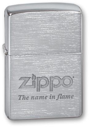 Зажигалка ZIPPO Name in flame, латунь с покрытием Brushed Chrome, серебристый, матовая, 36х12x56 мм