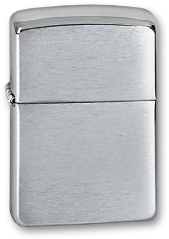 Зажигалка ZIPPO Armor™ c покрытием Brushed Chrome, латунь/сталь, серебристая, матовая, 36х12x56 мм - Nozhikov.ru