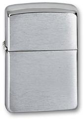 Зажигалка ZIPPO Armor™ c покрытием Brushed Chrome, латунь/сталь, серебристая, матовая, 36х12x56 мм
