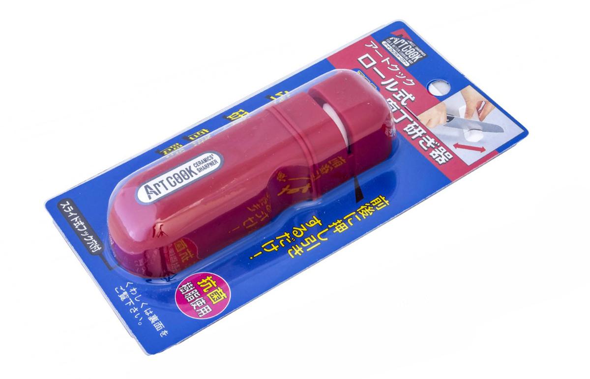 Фото 4 - Точилка керамическая, Tojiro, FK-436, красная