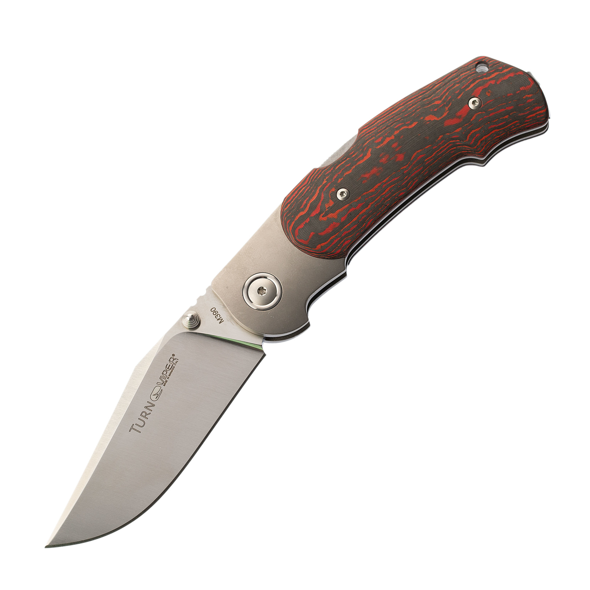 Складной нож Viper Turn, сталь M390 Satin, Red Lava Carbon Fiber
