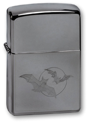 Зажигалка ZIPPO Bats High Polish Chrome, латунь с никеле-хром. покрыт., серебр., глянц., 36х56х12 мм