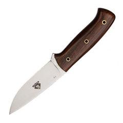 Нож с фиксированным клинком Brusletto Ty, сталь  VG-10 Laminated 420J2, рукоять древесный пластик, фото 1