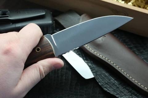 Нож с фиксированным клинком Brusletto Ty, сталь  VG-10 Laminated 420J2, рукоять древесный пластик. Вид 4