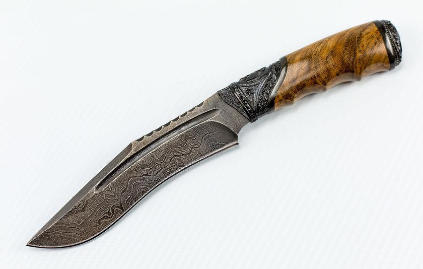 Авторский Нож из Дамаска №27, Кизляр
