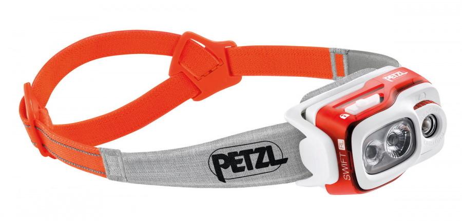 Фонарь светодиодный налобный Petzl Swift RL оранжевый, 900 лм, аккумулятор