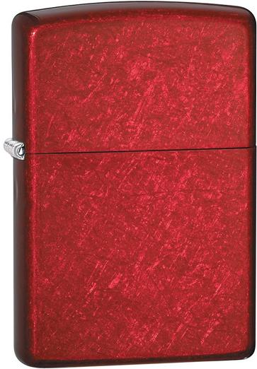 Зажигалка ZIPPO Classic с покрытием Candy Apple Red™, латунь/сталь, красная, глянцевая, 36x12x56 мм зажигалка zippo дьяволица с покрытием candy apple red™ латунь сталь красная 36x12x56 мм