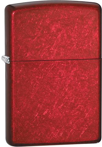 Зажигалка ZIPPO Classic с покрытием Candy Apple Red™, латунь/сталь, красная, глянцевая, 36x12x56 мм. Вид 1