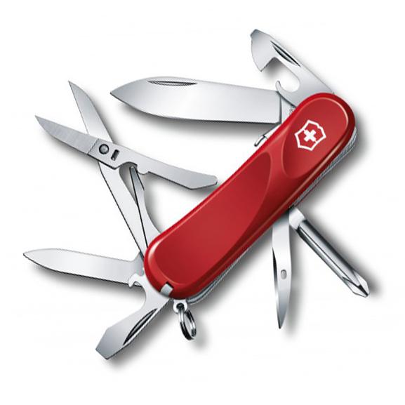 Нож перочинный Victorinox Evolution S16, сталь X50CrMoV15, рукоять нейлон, красный