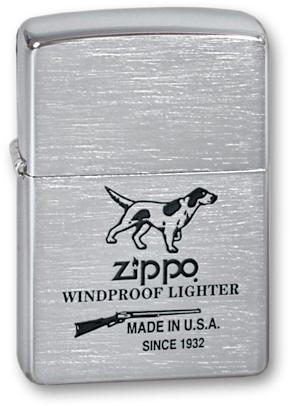 Зажигалка ZIPPO Hunting Tools Brushed Chrome, латунь с ник.-хром. покрыт., серебр., матов., 36х56х12 мм