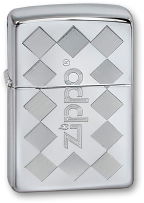 Зажигалка ZIPPO ZFramed High Polish Chrome, латунь, ник.-хром.покр., серебр., глянц., 36х56х12 мм zippo shadow gradiant high polish chrome