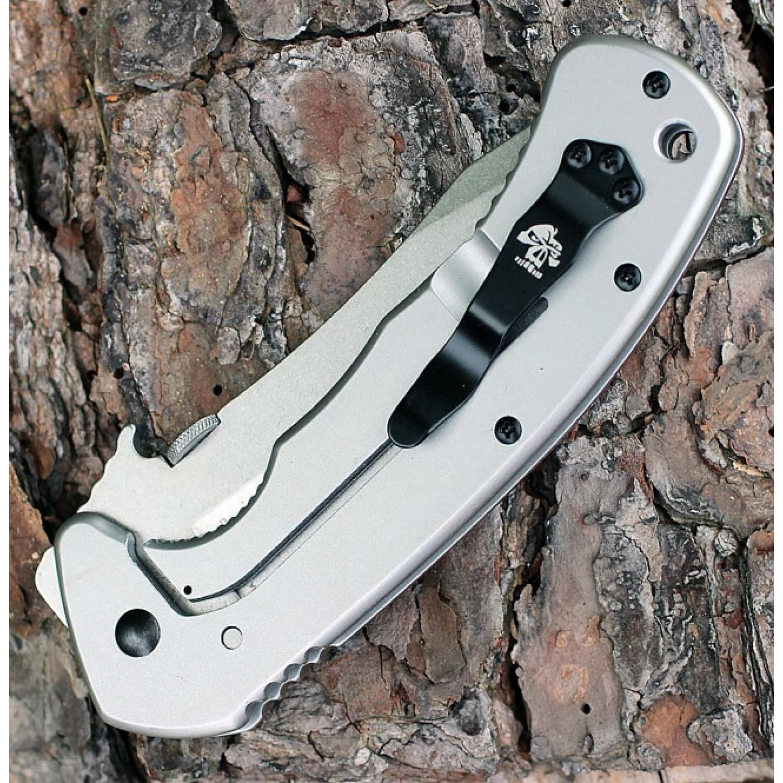 Фото 11 - Складной нож Emerson Design CQC-11K KERSHAW 6031, сталь лезвия 8Cr14MoV Stonewashed Clip Point Blade, рукоять G-10/410 сталь, коричневый