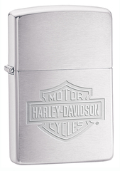 Зажигалка ZIPPO Harley-Davidson®, латунь/сталь с покрытием Brushed Chrome, серебристая, 36х12x56 мм