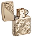 Лимитированная зажигалка ZIPPO Armor® с покрытием Gold Plated, латунь/сталь, золотистая, 36x12x56 мм - купить в интернет магазине