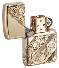 Лимитированная зажигалка ZIPPO Armor® с покрытием Gold Plated, латунь/сталь, золотистая, 36x12x56 мм