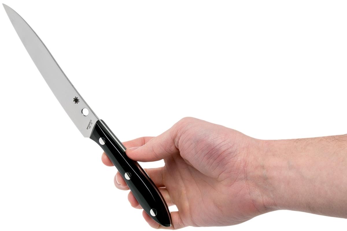 Фото 9 - Нож кухонный Spyderco K11P Cook's Knife, сталь VG-10 Plain, рукоять акриловый камень