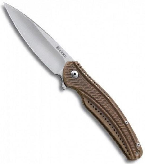 Фото 7 - Складной нож CRKT Ripple 2 Bronze, сталь Acuto 440, рукоять нержавеющая сталь