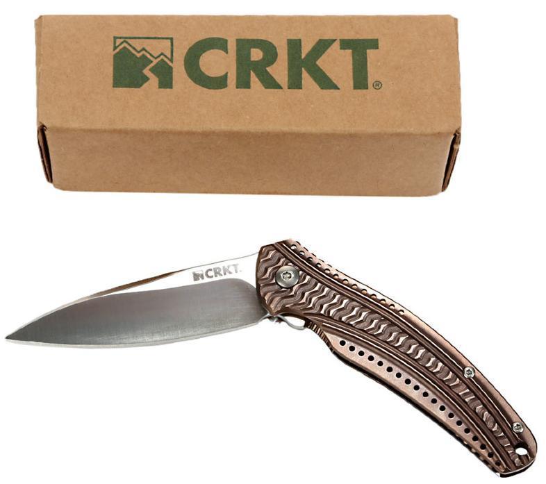 Фото 8 - Складной нож CRKT Ripple 2 Bronze, сталь Acuto 440, рукоять нержавеющая сталь