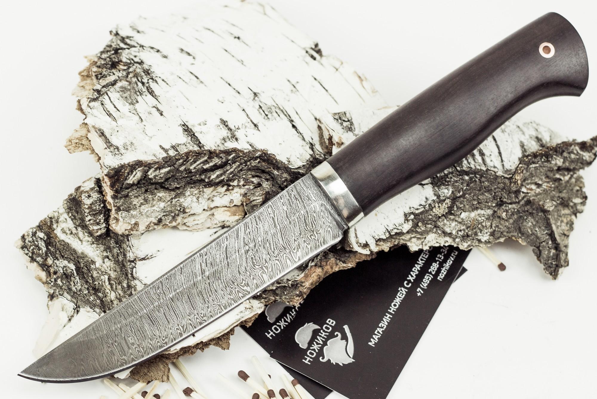 Нож Мангуст, дамасская сталь цены онлайн