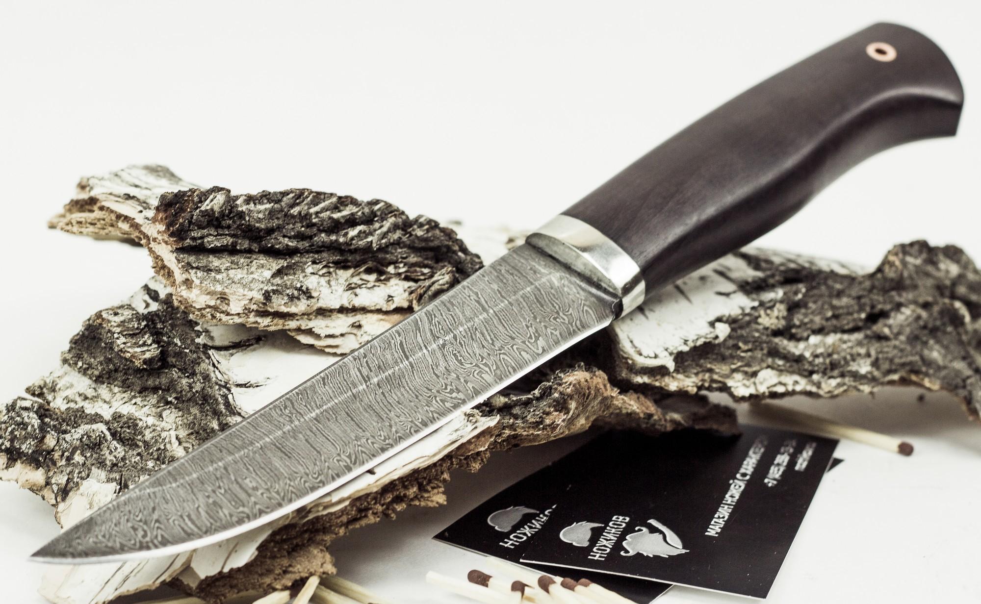 Фото 6 - Нож Мангуст, дамасская сталь от Промтехснаб