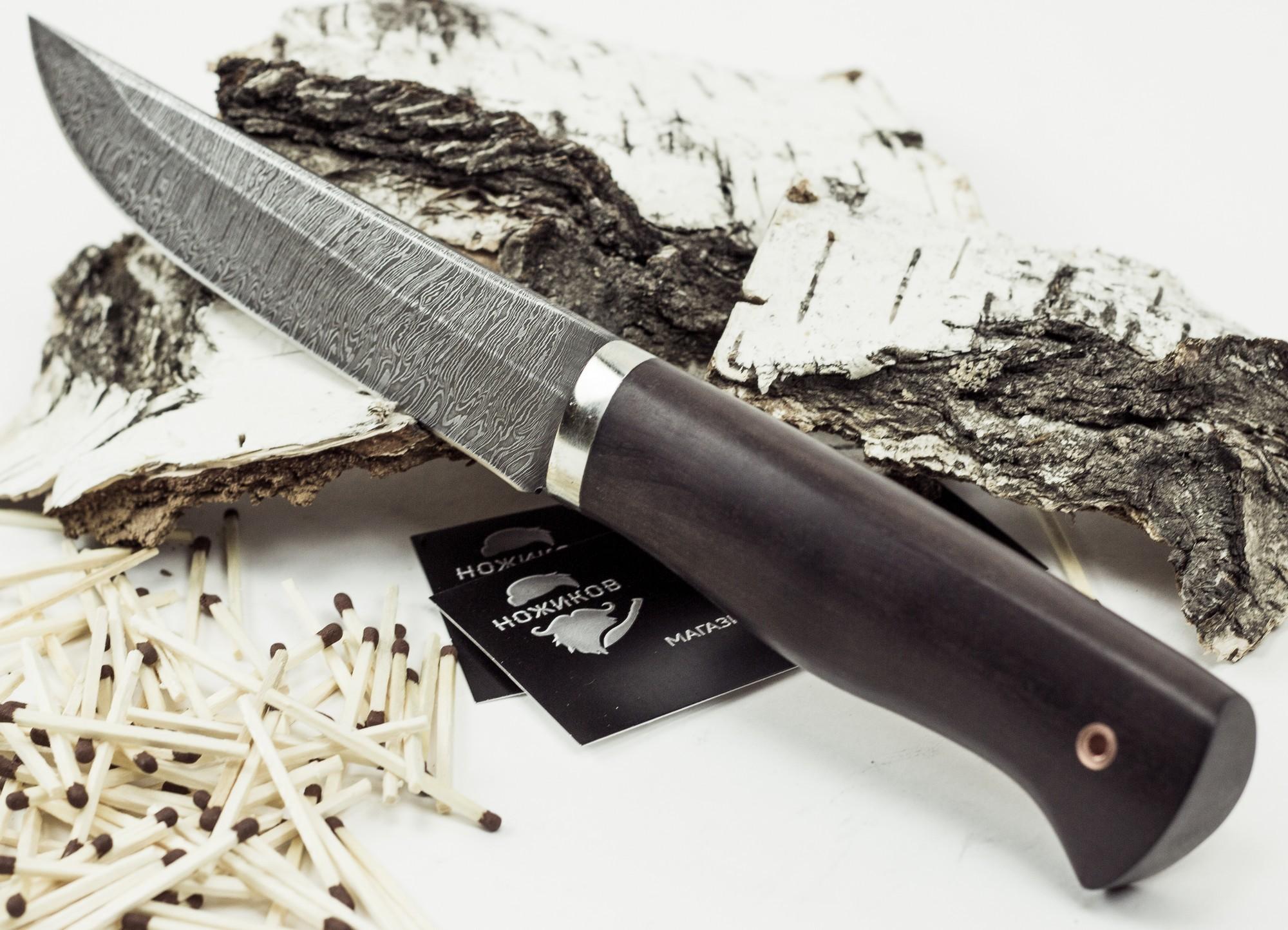 Фото 7 - Нож Мангуст, дамасская сталь от Промтехснаб