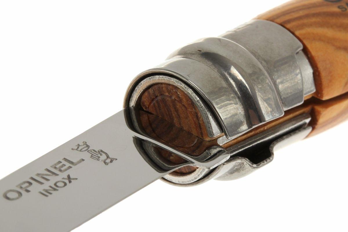 Фото 15 - Нож складной филейный Opinel №10 VRI Folding Slim Olivewood в деревянном кейсе, сталь Sandvik 12C27, рукоять из оливкового дерева, 001090