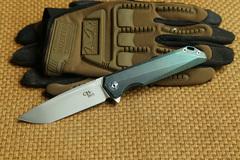 Складной нож CH3507 Green , сталь M390