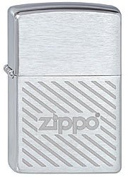 Зажигалка ZIPPO Stripes, латунь с покрытием Brushed  Chrome, серебристый, матовая, 36х12х56 мм