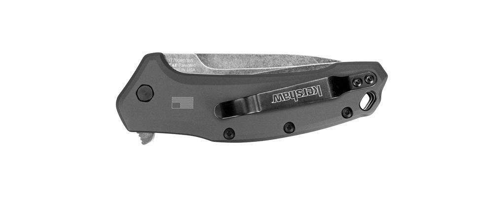 Фото 5 - Нож складной KERSHAW 1776GRYBW Link, сталь 420HC, рукоять анодированный алюминий, серый