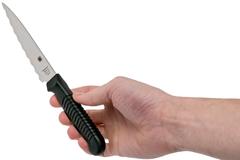 Нож кухонный универсальный Spyderco Utility Knife K05SPBK, сталь MBS-26 Serrated 11.4 см, рукоять полипропилен, чёрный, фото 5