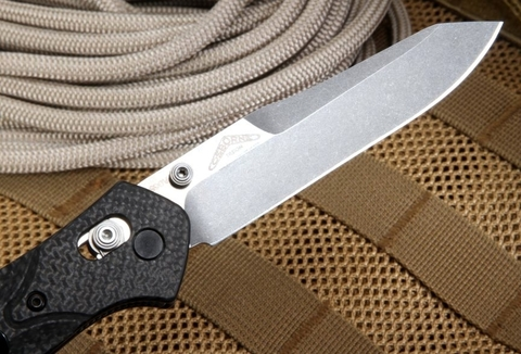 Нож складной Benchmade 940-1 Osborne, сталь CPM S90V, рукоять карбон. Вид 11
