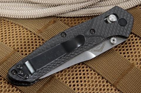 Нож складной Benchmade 940-1 Osborne, сталь CPM S90V, рукоять карбон. Вид 13