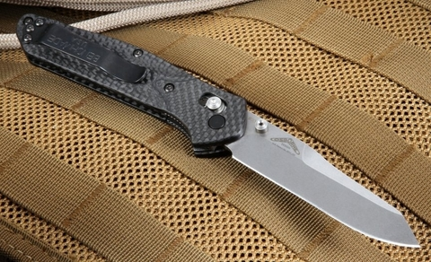 Нож складной Benchmade 940-1 Osborne, сталь CPM S90V, рукоять карбон. Вид 14