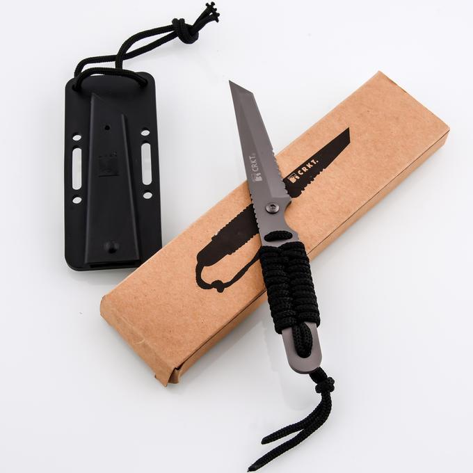 Фото 8 - Нож с фиксированным клинком CRKT Stiff K.I.S.S., сталь Aus 6, рукоять паракорд
