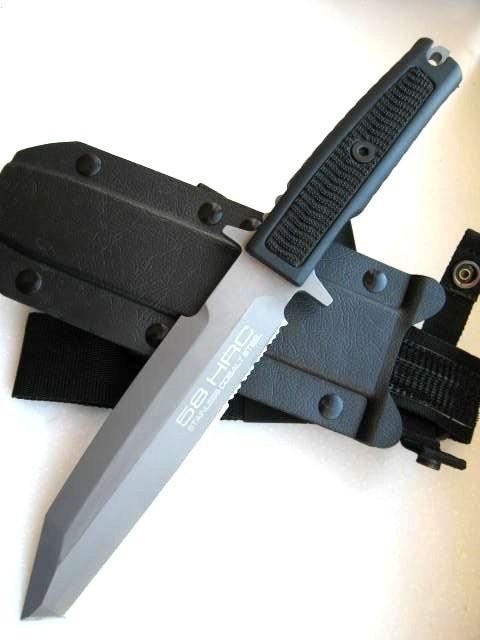 Фото 7 - Нож с фиксированным клинком Extrema Ratio Golem Sandblasted, сталь Bhler N690, рукоять Kraton®/Zytel®