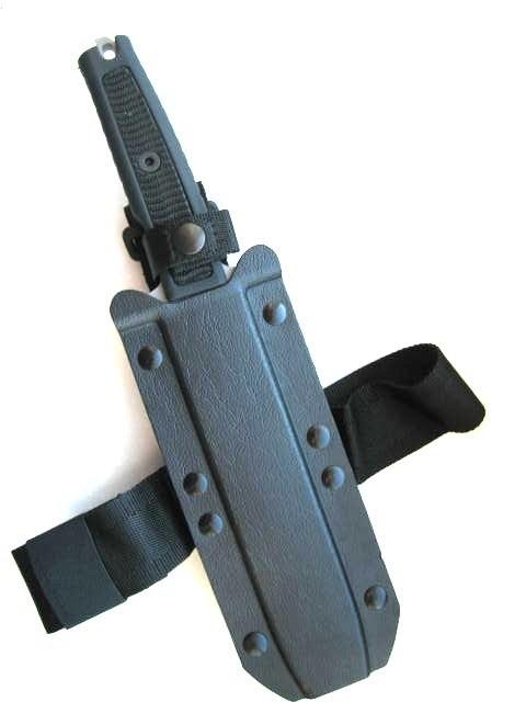 Фото 8 - Нож с фиксированным клинком Extrema Ratio Golem Sandblasted, сталь Bhler N690, рукоять Kraton®/Zytel®