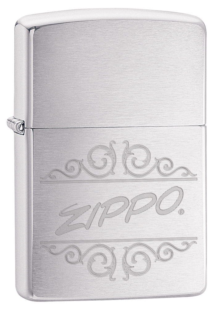 Зажигалка ZIPPO 200 Zippo с покрытием Brushed Chrome, латунь/сталь, серебристая, 36x12x56 мм