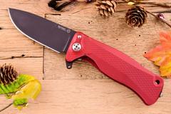 Нож складной LionSteel SR11A RB RED, сталь Uddeholm Sleipner® Black Finish, рукоять алюминий (Solid®), красный, фото 4