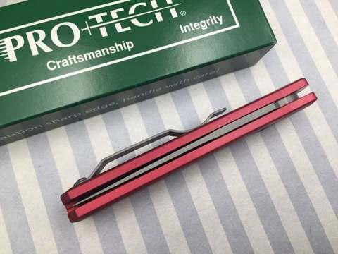 Автоматический складной нож Pro-Tech Godson 720 Red, сталь 154CM, рукоять алюминий, красный