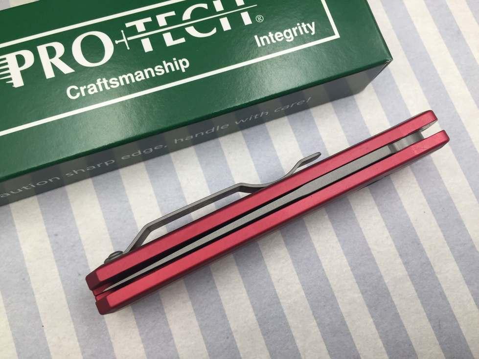 Фото 5 - Автоматический складной нож Pro-Tech Godson 720 Red, сталь 154CM, рукоять алюминий, красный