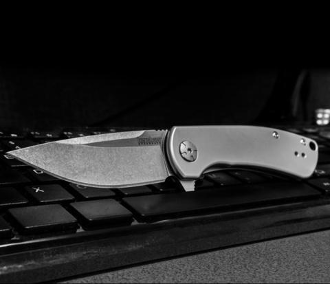 Складной полуавтоматический нож Kershaw Pico K3470, сталь 8Cr13MoV, рукоять сталь. Вид 4