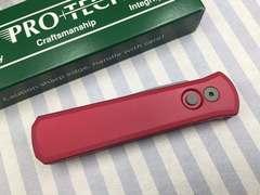 Автоматический складной нож Pro-Tech Godson 720 Red, сталь 154CM, рукоять алюминий, красный, фото 5