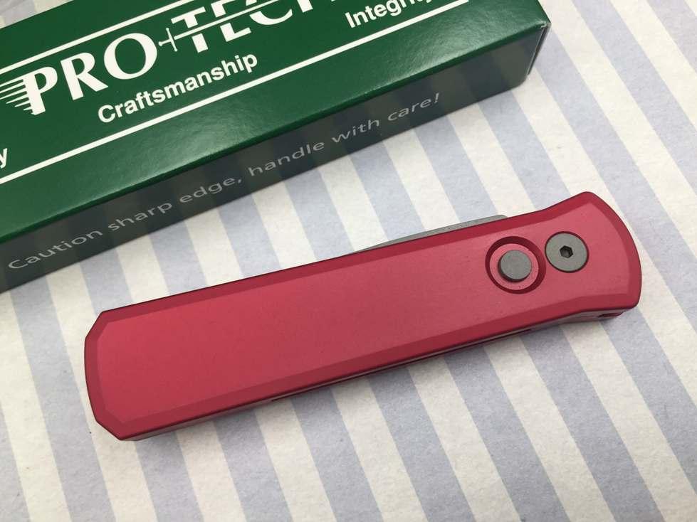 Фото 6 - Автоматический складной нож Pro-Tech Godson 720 Red, сталь 154CM, рукоять алюминий, красный