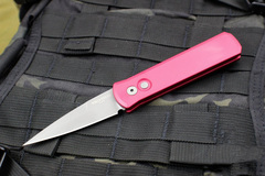 Автоматический складной нож Pro-Tech Godson 720 Red, сталь 154CM, рукоять алюминий, красный, фото 6