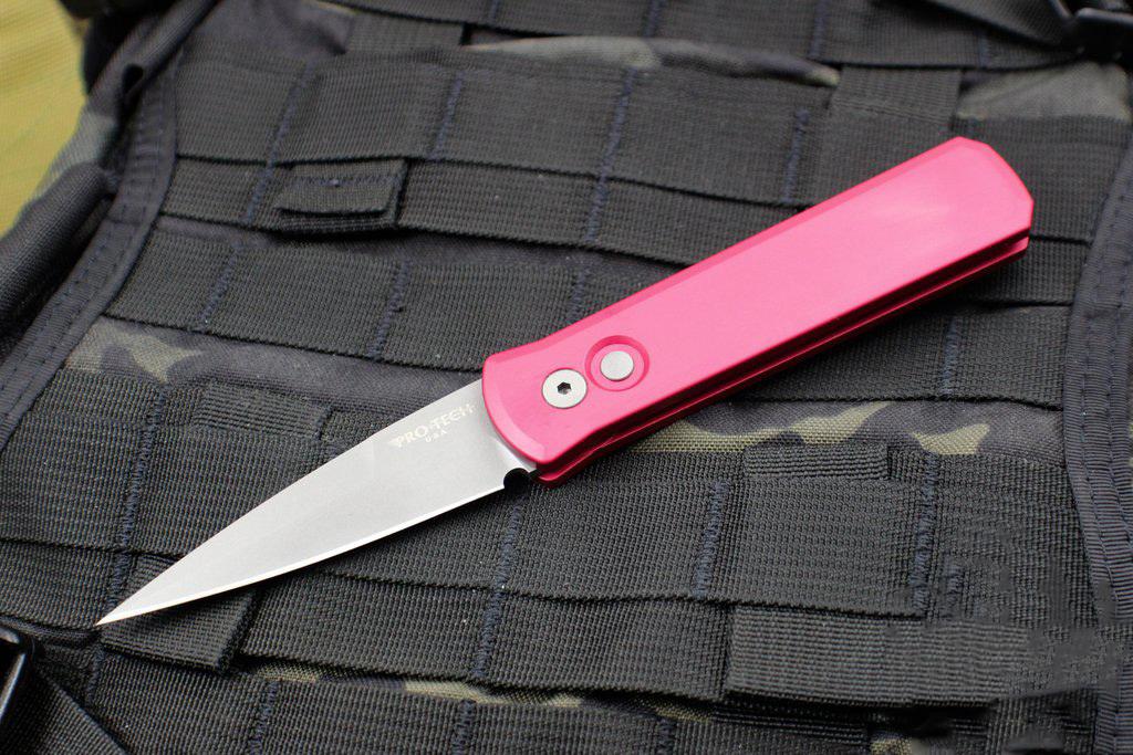 Фото 7 - Автоматический складной нож Pro-Tech Godson 720 Red, сталь 154CM, рукоять алюминий, красный