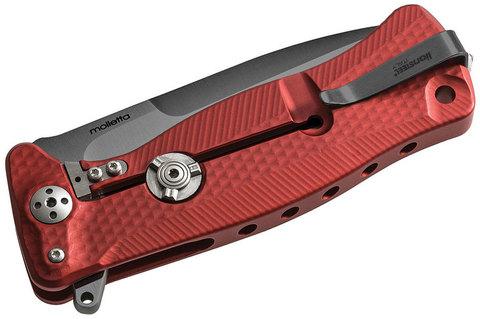 Нож складной LionSteel SR11A RB RED, сталь Uddeholm Sleipner® Black Finish, рукоять алюминий (Solid®), красный. Вид 3